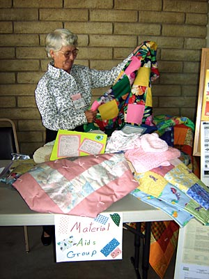 Material Aids with Quilts